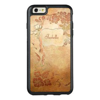 Floral personalizada estilo del vintage del oro funda otterbox para iPhone 6/6s plus