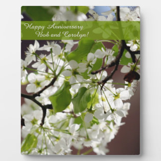 Floral Personalized Blossom Photo Plaque