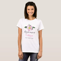 Floral personalized bridesmaid t-shirts