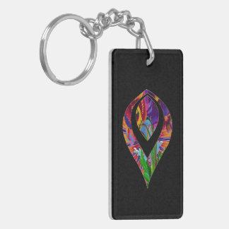 Floral Petal Motif Acrylic Keychain