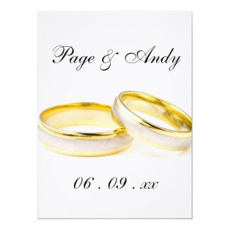 "Floral Petals, Elegant & Stylish Golden Wedding 6.5"" X 8.75"" Invitation Card"