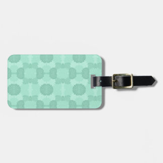 Floral Petals in Mint Tag For Luggage