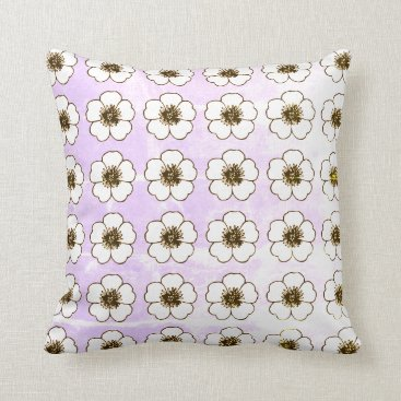 Beach Themed Floral_Petunia's_Old-World(c) Med-Indoor-Outdoor Throw Pillow