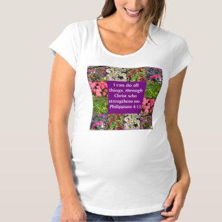 FLORAL PHILIPPIANS 4:13 DESIGN MATERNITY T-Shirt