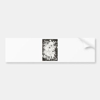 Floral Philly Collage Bumper Sticker