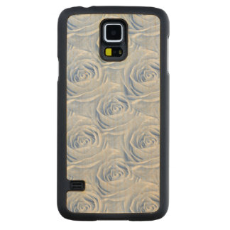 Floral Photo Blue Rose Nature Wallpaper Pattern Carved® Maple Galaxy S5 Slim Case