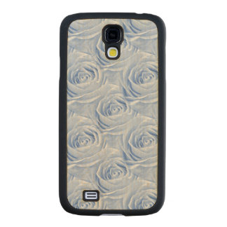 Floral Photo Blue Rose Nature Wallpaper Pattern Carved® Maple Galaxy S4 Slim Case