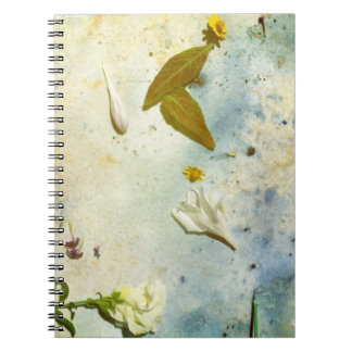 floral photo collage notebook
