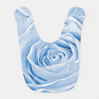 Floral Photo Dainty Baby Blue Rose Bib