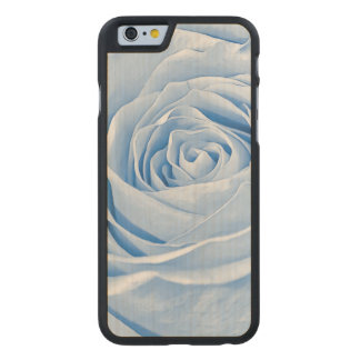 Floral Photo Dainty Light Blue Rose Carved Maple iPhone 6 Case