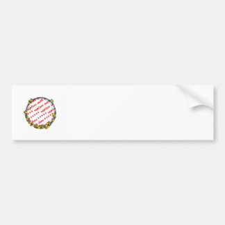 Floral Photo Frame (Any Occasion) Car Bumper Sticker