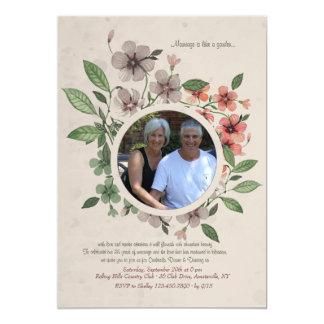 Floral Photo Frame Invitation