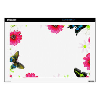 FLORAL PHOTO FRAME LAPTOP DECALS