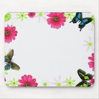 FLORAL PHOTO FRAME MOUSE PAD