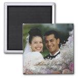 Floral Photo Frame Wedding Magnet