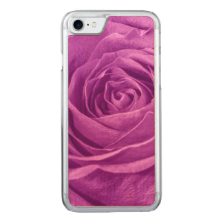 Floral Photo of a  Vibrant Orchid Colored Rose Carved iPhone 8/7 Case