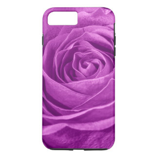 Floral Photo of a Vibrant Orchid Colored Rose iPhone 7 Plus Case