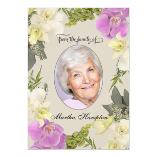 Floral Photo Sympathy Thank You with Orchids Card