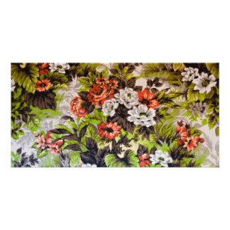 Floral Photo Card