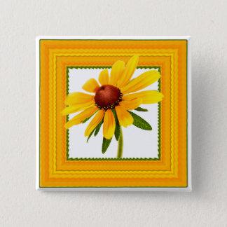 Floral Photography - Black-eyed Susan Framed Button
