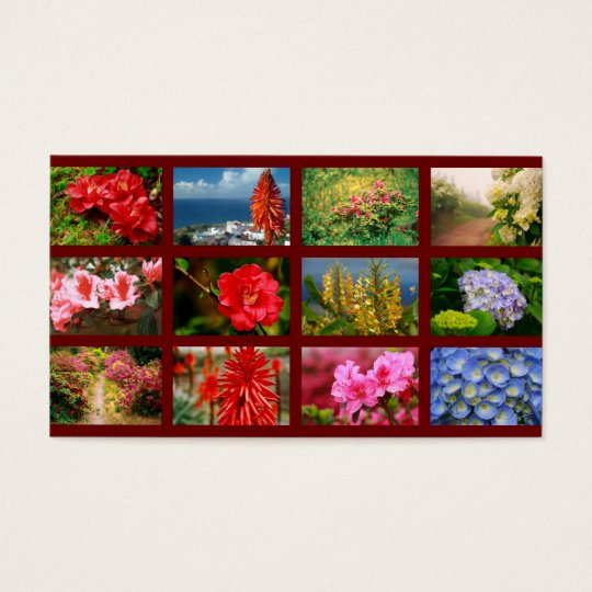 Floral photography business card