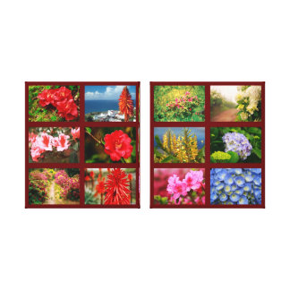 Floral photography gallery wrapped canvas