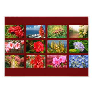 Floral photography card