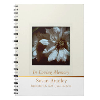 Floral Photography Clematis 1- Funeral Guest Book Note Books