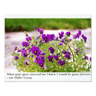Floral Photography (Pansies) Gifts & Collectibles 4.25x5.5 Paper Invitation Card
