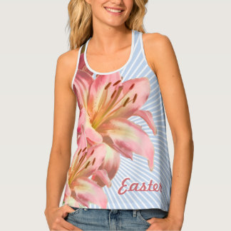 Floral Photography Pink Easter Lily Tank Top