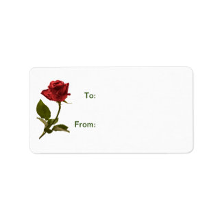 Floral Photography Red Rose Gift Tags