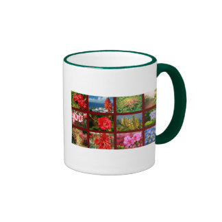 Floral photography ringer mug