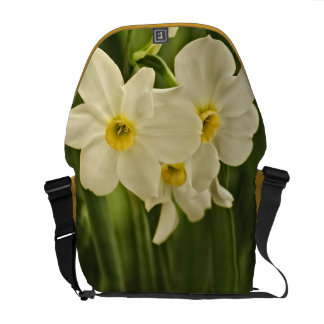 Floral Photography:  White Spring Narcissus Courier Bag