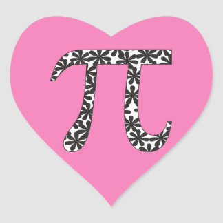 Floral Pi Heart Stickers