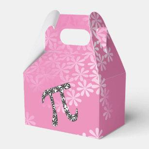 pi symbols favor boxes zazzle  floral pi symbol favor box