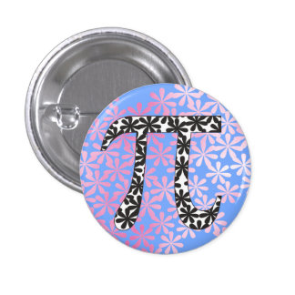 Floral Pi Symbol Pinback Button