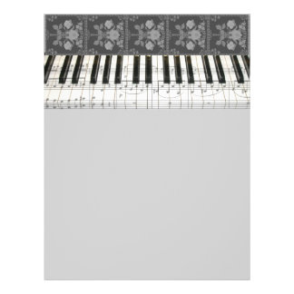 Floral Piano Keyboard Flyer