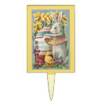 Floral Pick  for Easter Flower Gifts Rectangle Cake Toppers