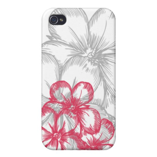 floral pink 4 casing iPhone 4/4S case