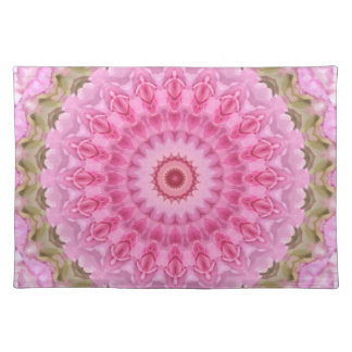 Floral Pink and Green Garden Kaleidoscope Placemat