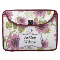 floral pink and purple personalized sleeve for MacBook pro
