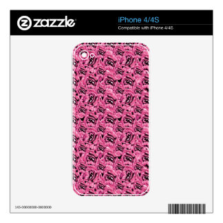 Floral Pink Collage Pattern iPhone 4 Decal