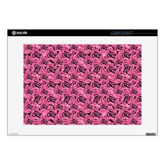 Floral Pink Collage Pattern Laptop Skin