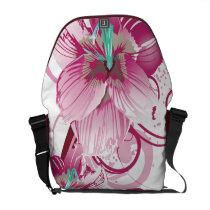 floral pink  elegance courier bag