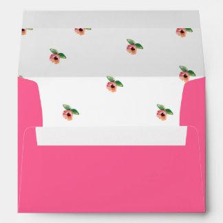 Floral Pink Envelope