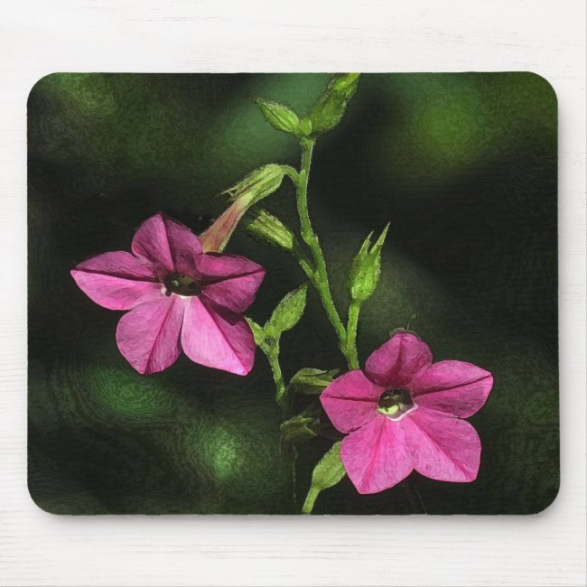 Floral Pink Flowering Tobacco Mousepad