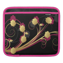 floral pink gold elegance sleeve for iPads