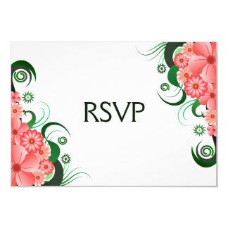 Floral Pink Hibiscus Elegant RSVP Response Cards