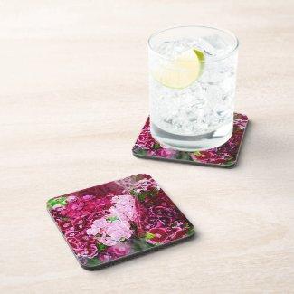 Floral Pink Magenta Drink Coaster