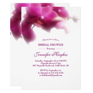 Floral Pink Orchid Bridal Shower Invitation